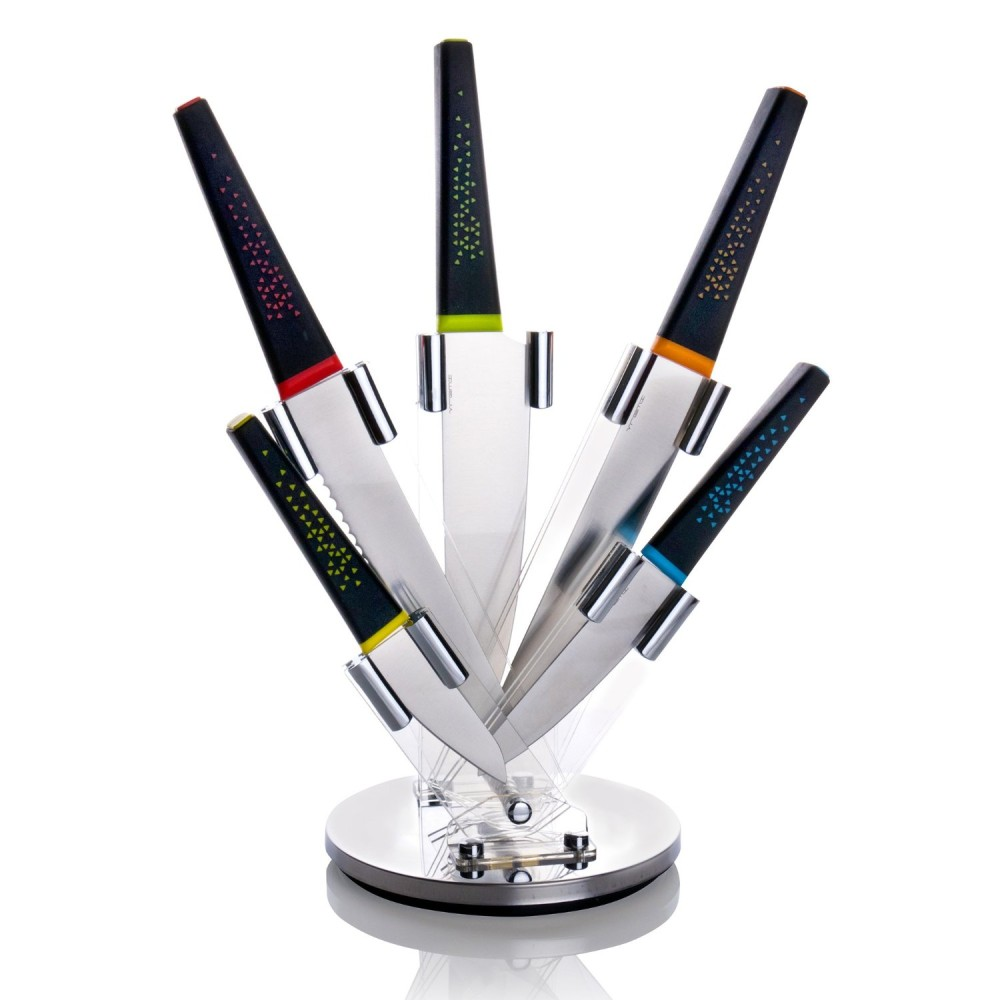 VREMI Peacock Stainless Steel Chef's Essentials 5 Piece Knife Set