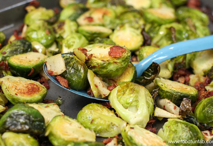 Roasted Brussel Sprouts with Bacon & Apple