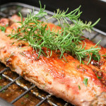 PORK LOIN WITH SPICY ROSEMARY APPLE & TERIYAKI GLAZE