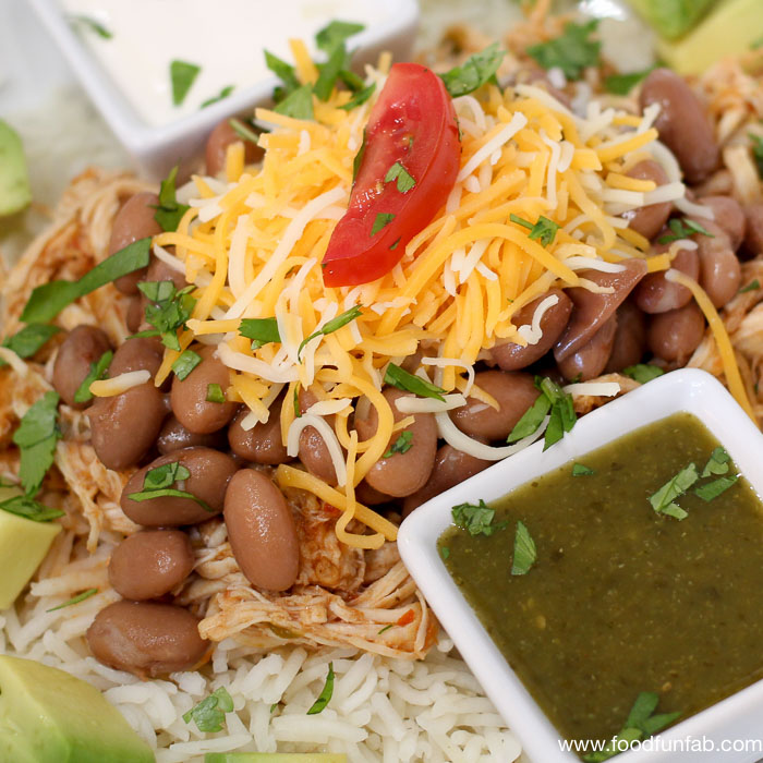 Slow Cooker - Pressure Cooker Chicken Burrito Bowls_2