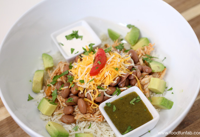 Slow Cooker - Pressure Cooker Chicken Burrito Bowls_1